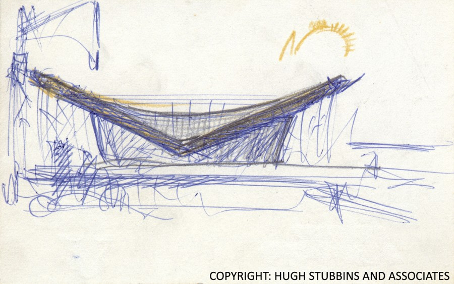 1956 | Sketch by Hugh A. Stubbins | © Hugh Stubbins and Associates