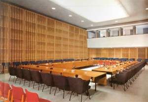 Photo: Conference room ca. 1958 (Congress hall/Haus der Kulturen der Welt)