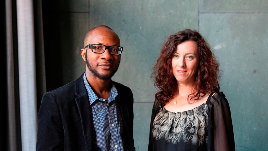 International Literature Award 2013 | The Winners: Christine Richter-Nilsson, Teju Cole | Photo: Thomas Eugster