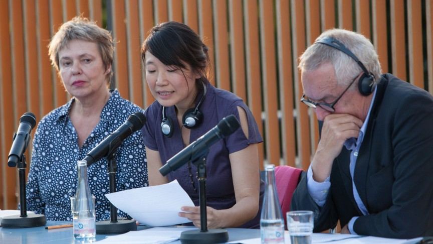 Almuth Carstens, Madeleine Thien & Egon Ammann (from left to right) | © Santiago Engelhardt