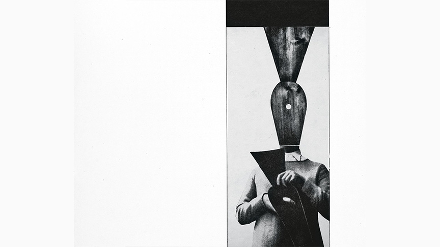 Didactic Exhibition, Panel No. 40 (Hans Arp, The Glove, collage), detail, group of authors (Depolo, Picelj, Putar, Ravlić, Richter, Šegvić, Kovačević, Barbić), 1957 | Courtesy Museum of Contemporary Art Zagreb