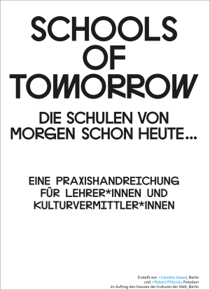 "Cover ""Schools of Tomorrow: Handlungsempfehlungen"""