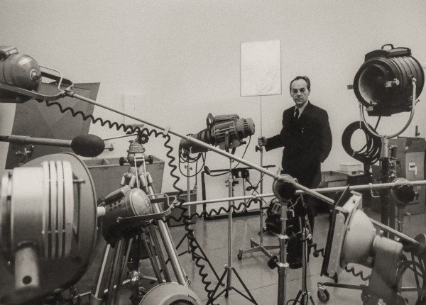 György Kepes in the Center for Advanced Visual Studies (CAVS) at MIT, Cambridge, Massachusetts, 1967 | Courtesy of the MIT Museum, Photo: Ivan Massar