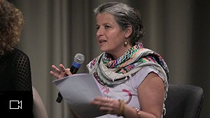 "Adriana Schneider Alcure at the conference as part of ""Love and Ethnology"", video still"